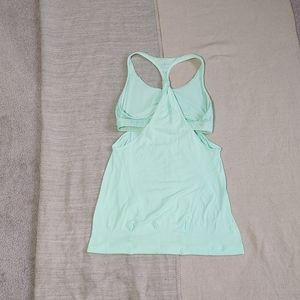 Lululemon mint polka dot no limits tank top